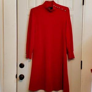 NINA LEONARD red sweater dress Large 14